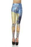 Leggings Opera d'arte in Polyester Close-fitting in Spandex