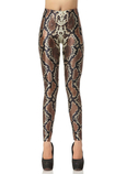 Leggings Close-fitting con Ripple Animale sensuale Tessuto Spandex