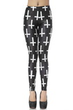 Leggings Geometrico donna Close-fitting in Polyester Casuale