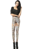Leggings magro donna Vintage Close-fitting in Polyester