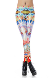 Leggings in Spandex d'arte Vintage Close-fitting