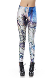Leggings donna in Polyester in Spandex Hip Hop d'arte