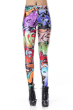 Leggings Close-fitting in Polyester Punk in Spandex