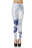 Leggings Vintage in Spandex in Polyester Close-fitting