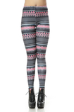 Leggings donna in Spandex Moderno Close-fitting Striscia