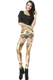 Leggings ragazza Tessuto Spandex Close-fitting Vintage Opera d'arte
