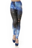 Leggings ragazza Stampa Galassia alla Moda Close-fitting in Spandex