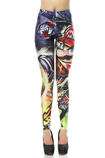 Leggings in Polyester in Spandex Close-fitting Caratteri Cartoni