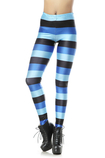 Leggings donna Blocco Colore in Spandex Close-fitting alla Moda