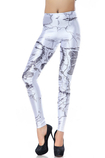 Leggings Bandiera in Polyester Close-fitting Moderno