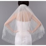 Polpastrello Velo da Sposa Perline Due Tulle Pearl Bordo Assetto