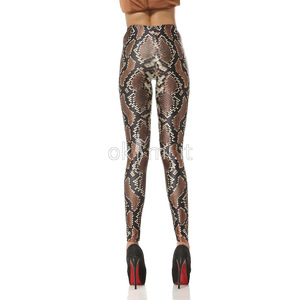 grande immagine 5 Leggings Close-fitting con Ripple Animale sensuale Tessuto Spandex