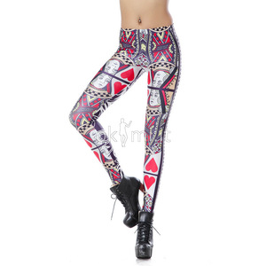 grande immagine 1 Leggings in Polyester Opera d'arte Tessuto Spandex Hip Hop Close-fitting