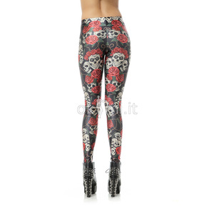 grande immagine 5 Leggings fiore stampata in Polyester Tessuto Spandex Nipped Waists