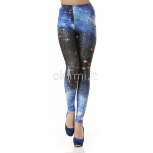 grande immagine 1 Leggings ragazza Stampa Galassia alla Moda Close-fitting in Spandex