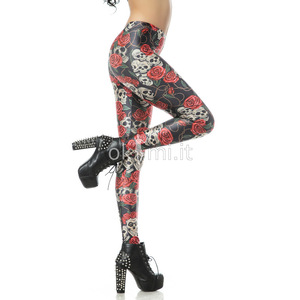 grande immagine 4 Leggings fiore stampata in Polyester Tessuto Spandex Nipped Waists
