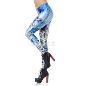 grande immagine 3 Leggings donna in Polyester in Spandex Hip Hop d'arte
