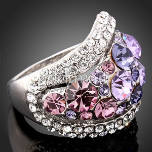 grande immagine 3 Anello Luxurious Luxurious Rhinestone Lega donne