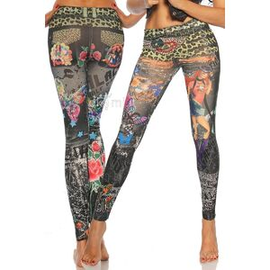 grande immagine 1 Leggings donna d'arte Close-fitting Punk di Polyester