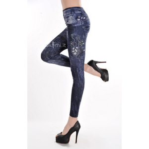 grande immagine 3 Leggings donna Opera d'arte Close-fitting Elegante in Spandex