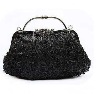 grande immagine 1 Borsa da Sera Unica Satin Perline Sequin Unica