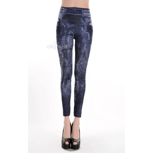 grande immagine 1 Leggings donna Opera d'arte Close-fitting Elegante in Spandex