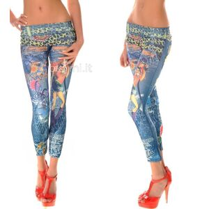 grande immagine 2 Leggings donna d'arte Close-fitting Punk di Polyester